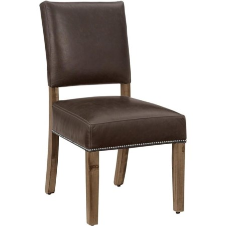 Genuine Leather Side Chair