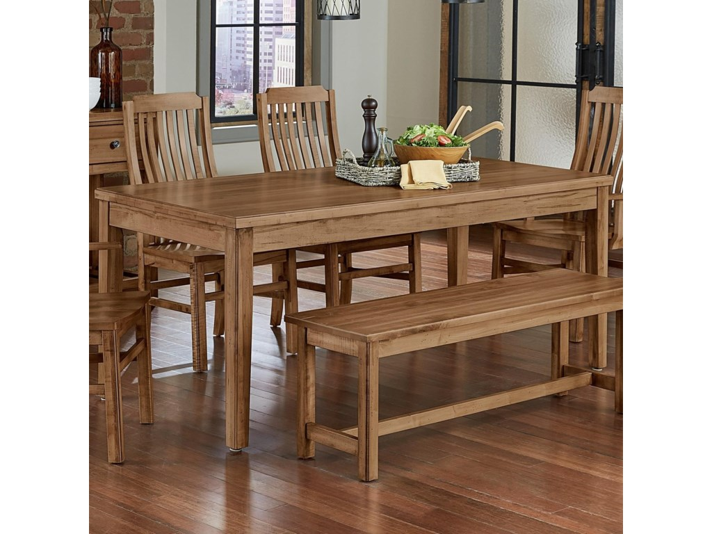 Artisan & Post Simply Dining-Maple 224-100 Solid Wood 72 ...