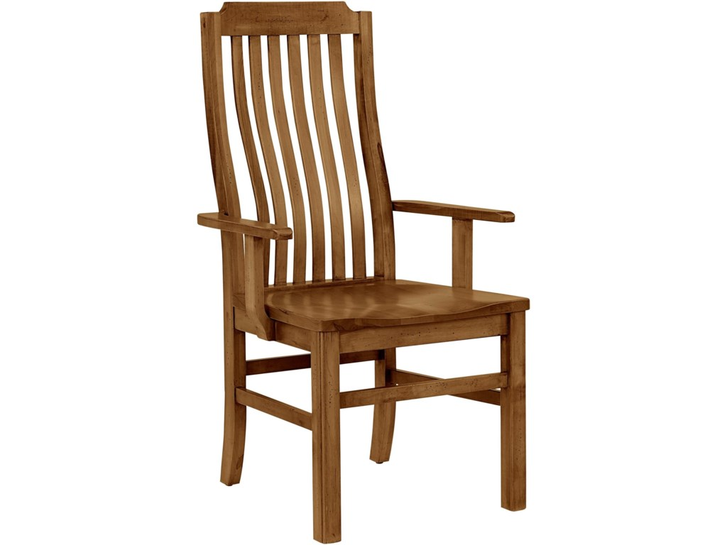 Artisan & Post Simply Dining-MapleVertical Slat Arm Chair