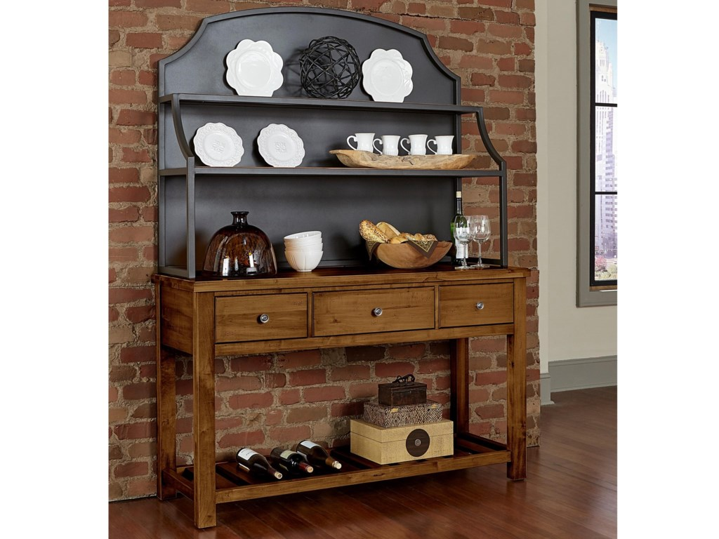 Artisan & Post Simply Dining-MapleServer & Metal Hutch