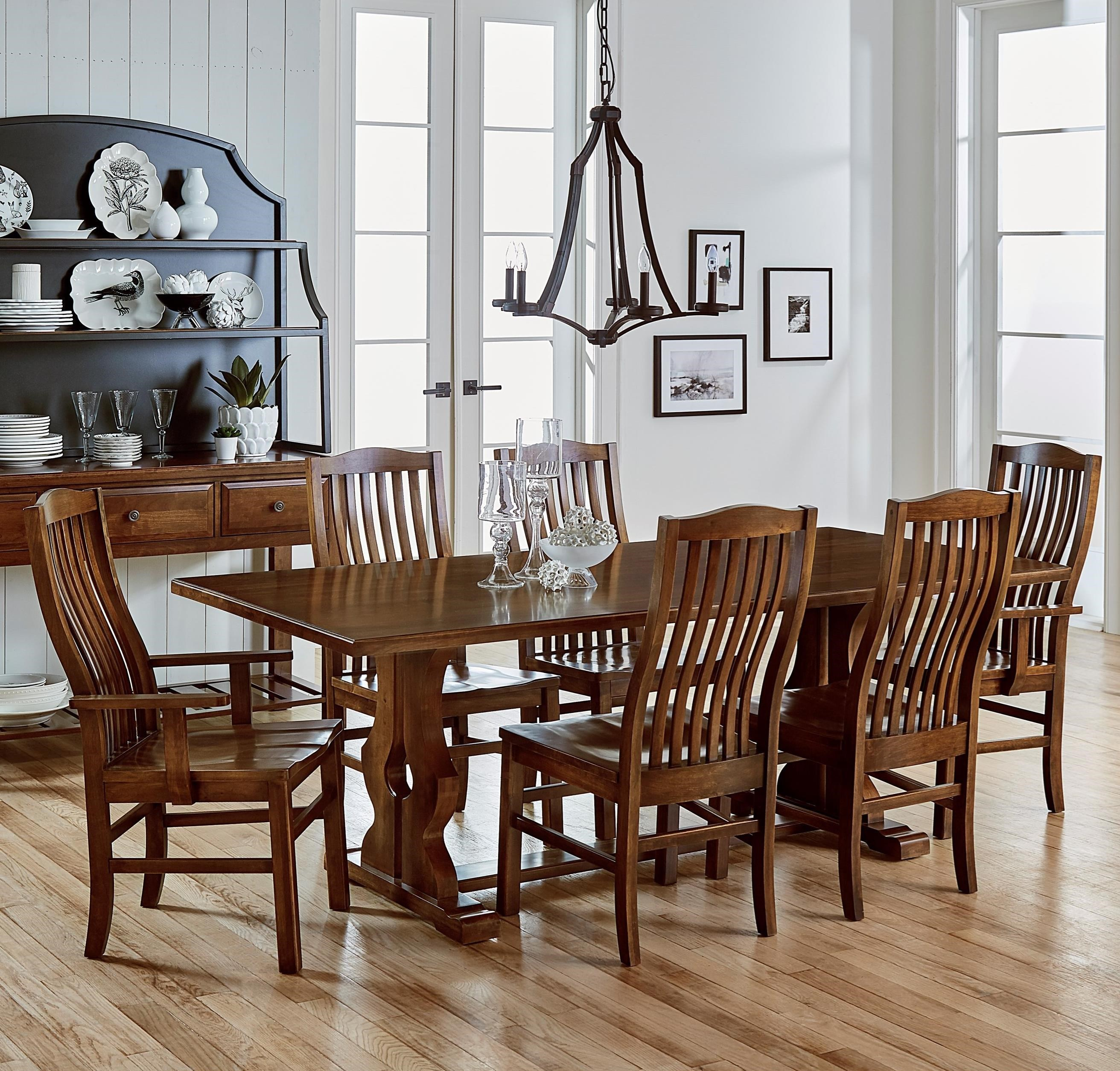 Artisan U0026 Post Simply Dining 7 Piece Solid Cherry Family Dinner Table Set    Gill Brothers Furniture   Dining 7 (or More) Piece Sets