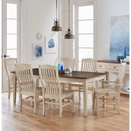 Artisan & Post Simply Dining 7-Piece Solid Cherry Boat Table Set ...
