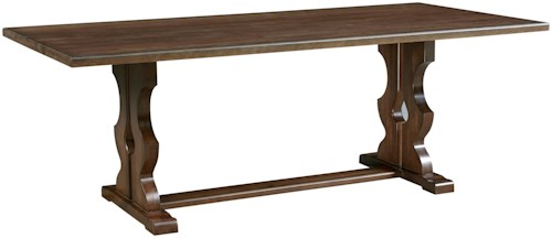 Artisan & Post Simply Dining Solid Wood Cherry Family Dinner Table with Trestle Base