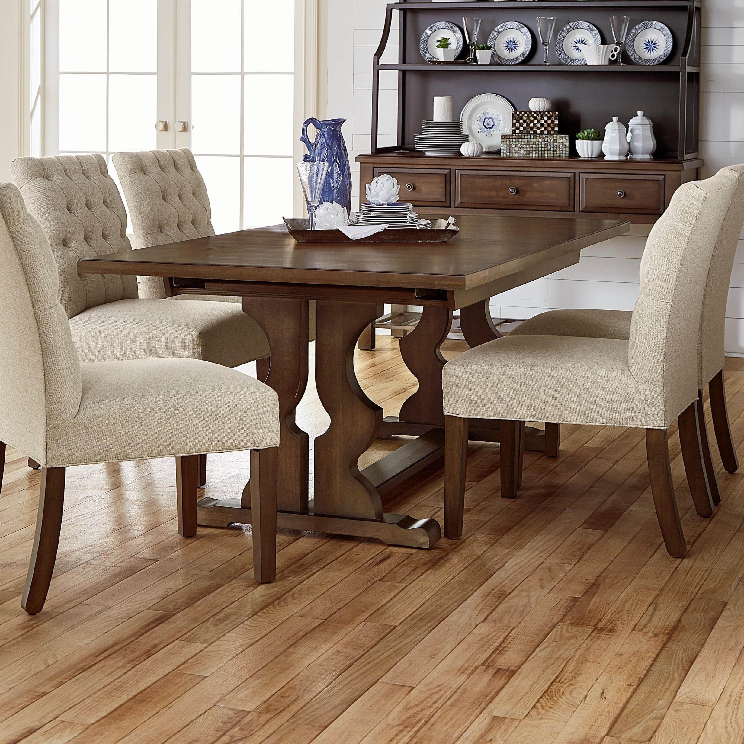 Artisan U0026 Post Simply Dining 7 Piece Solid Cherry Trestle Table Set    Hudsonu0027s Furniture   Dining 7 (or More) Piece Sets