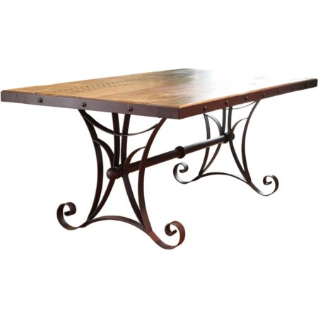 Dining Table with Metal Base