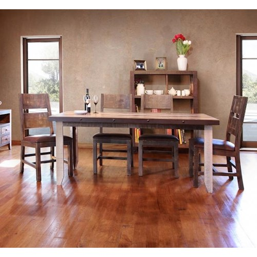 International furniture direct 900 antique 5 piece table and chairs set wilson 39 s furniture - Dining rooms direct ...