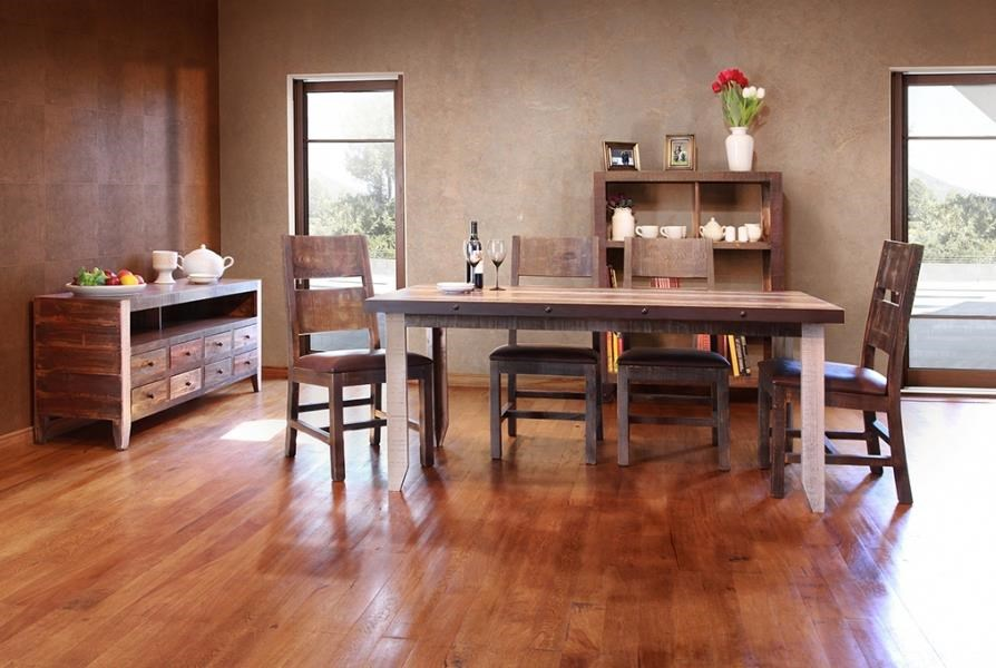 International Furniture Direct 900 AntiqueDining Table