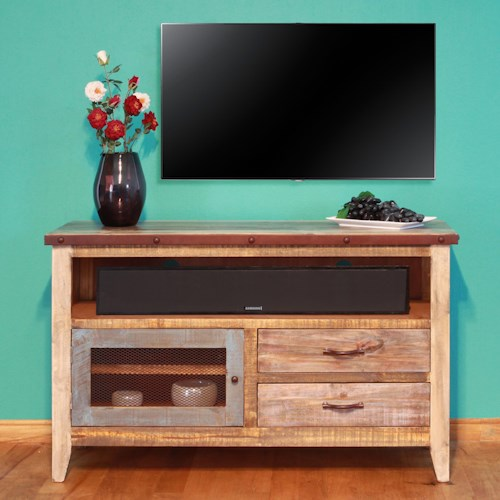 International Furniture Direct 900 Antique Solid Pine 52