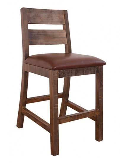 International Furniture Direct 900 Antique Casual 30 Barstool With
