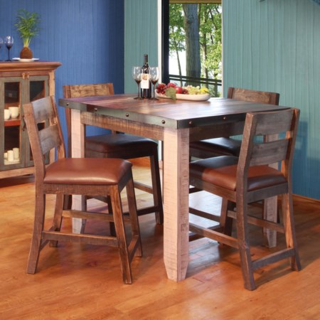 "42"" Counter Height Dining Table Set"