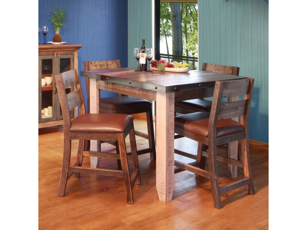 900 Antique 42 Counter Height Dining Table Set By International Furniture Direct