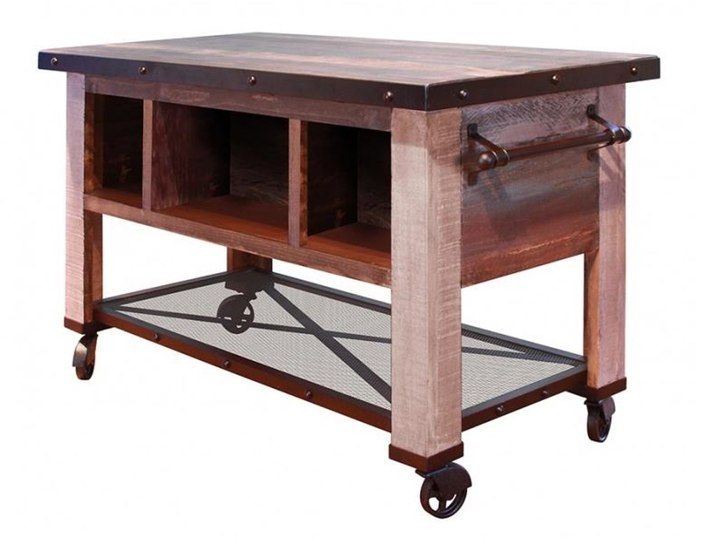 International Furniture Direct 900 Antique5 Drawer Kitchen Island