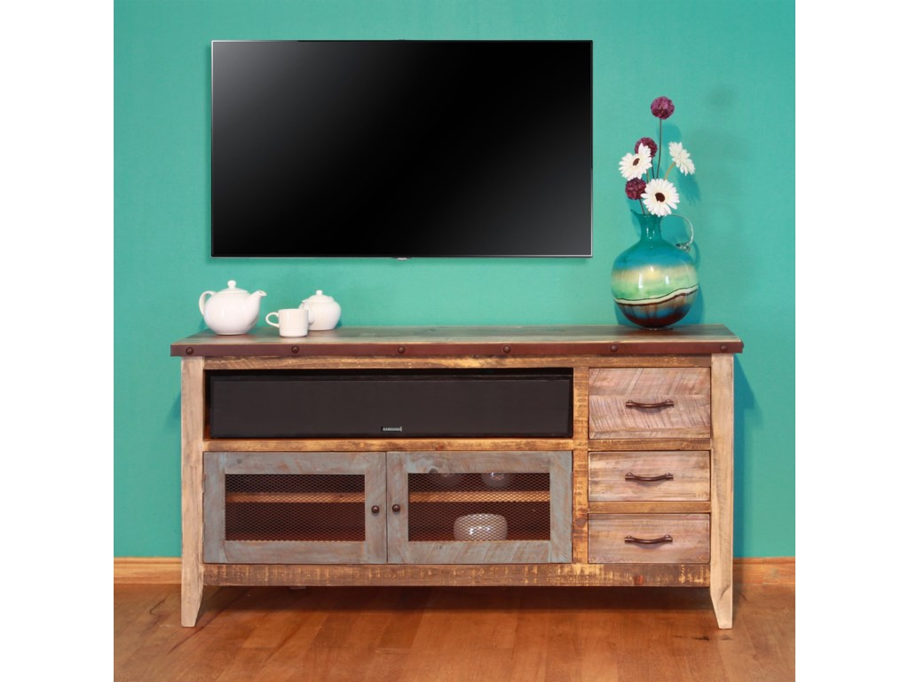900 Antique Solid Pine 62 Tv Stand