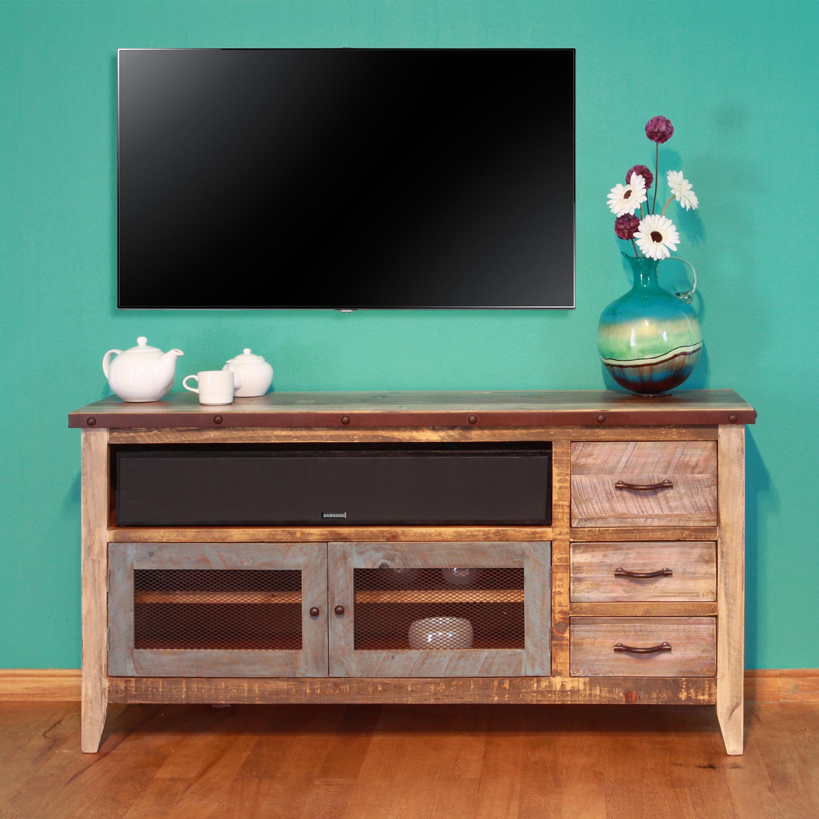 International Furniture Direct 900 AntiqueSolid Pine 62 ...
