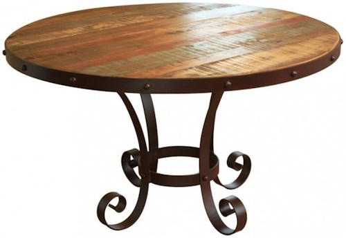 International Furniture Direct 900 Antique Rustic Multicolor 51
