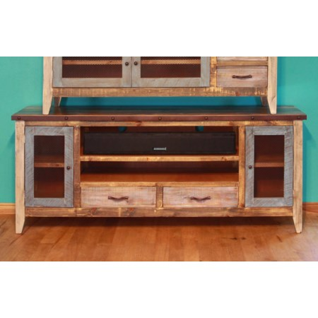 "Solid Pine 76"" TV Stand"