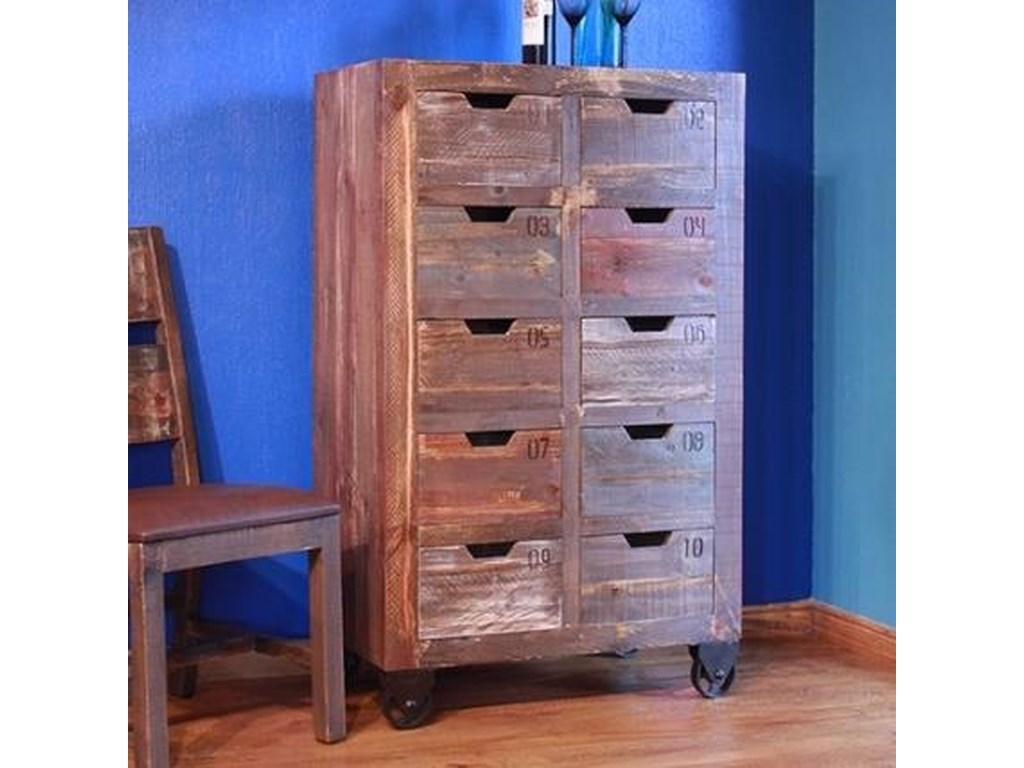 International Furniture Direct Consoles10 Drawer Console