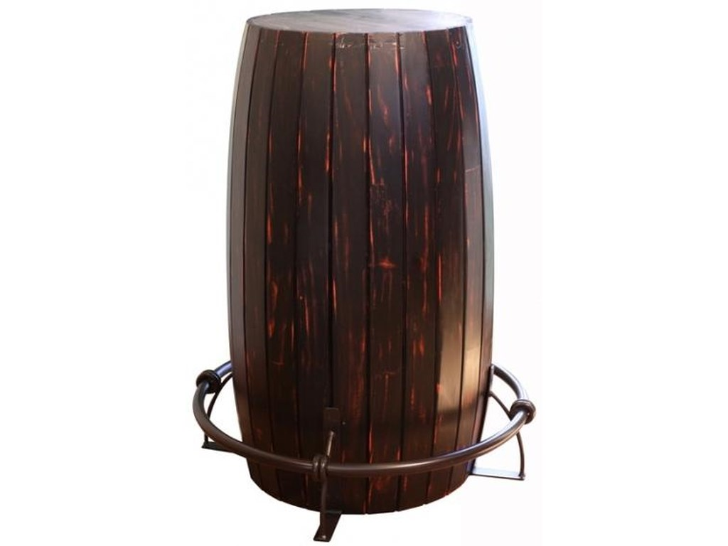 International Furniture Direct 967Bistro Table Barrel