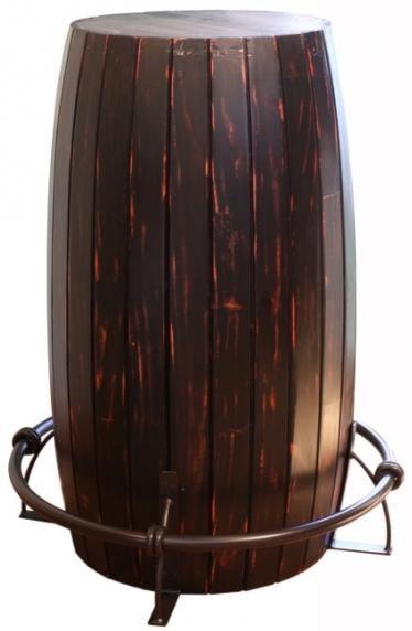 International Furniture Direct 967Bistro Table Barrel