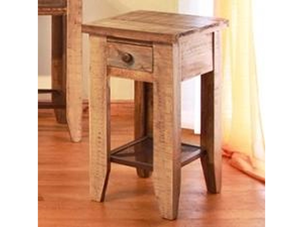 International Furniture Direct 968Chair Side Table