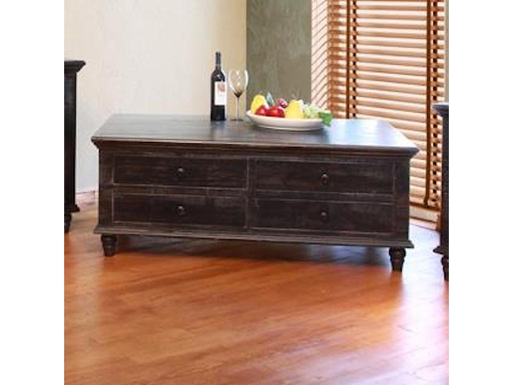 International Furniture Direct Vintage8 Drawer Cocktail Table