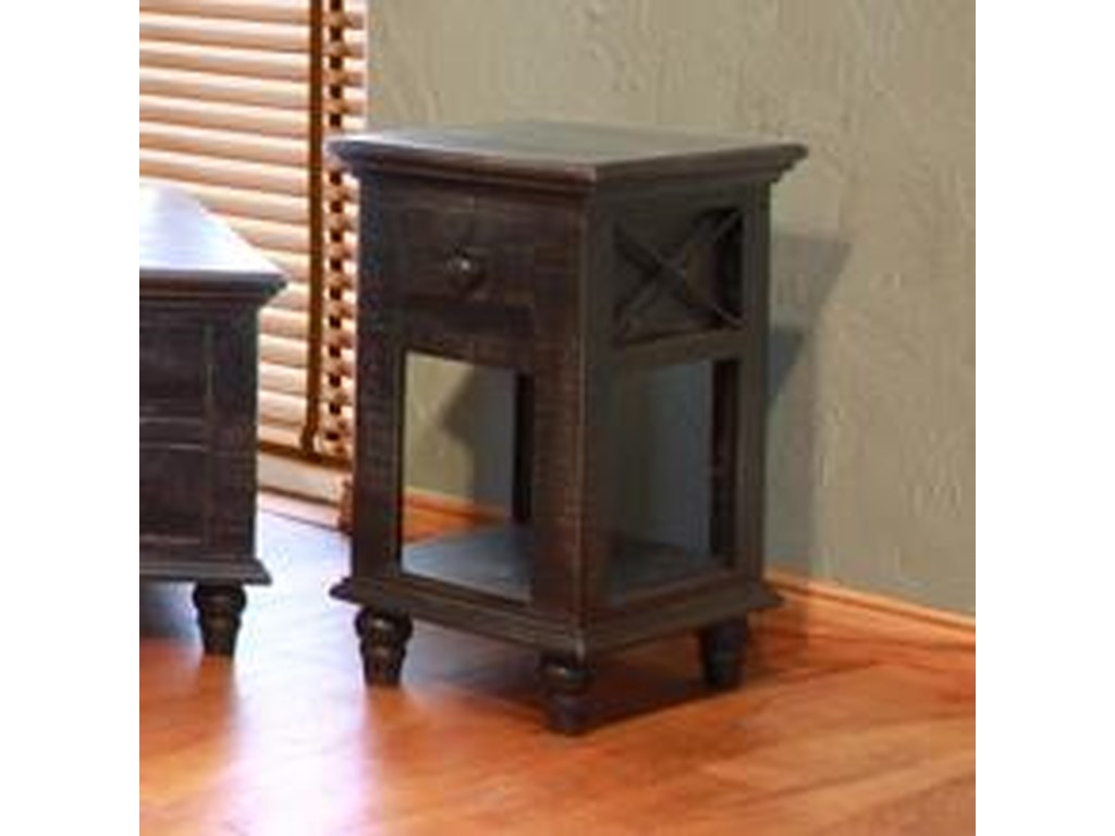 International Furniture Direct Vintage1 Drawer Chair Side Table
