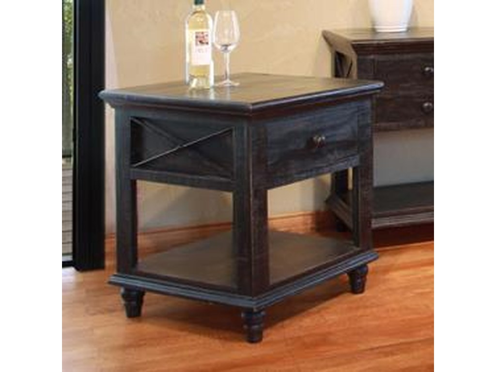 International Furniture Direct Vintage1 Drawer End Table