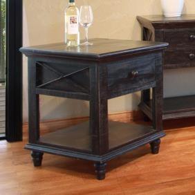 International Furniture Direct Vintage1 Drawer End Table