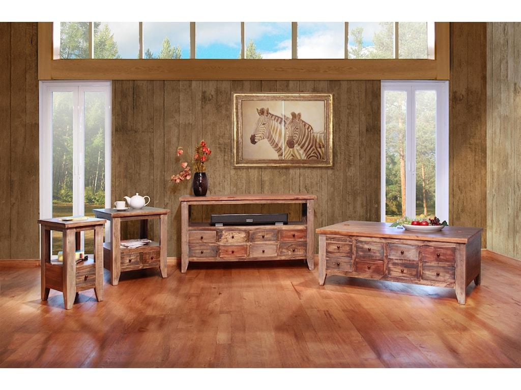 International Furniture Direct AntiqueCocktail Table
