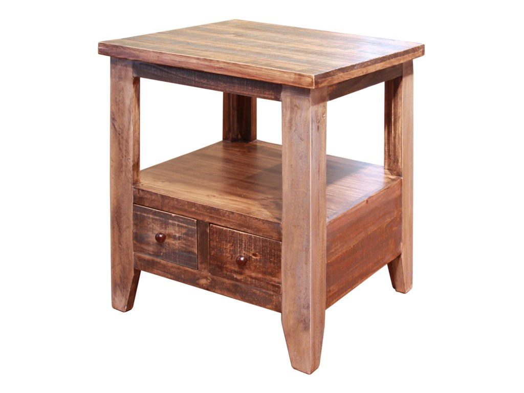 International Furniture Direct AntiqueEnd Table