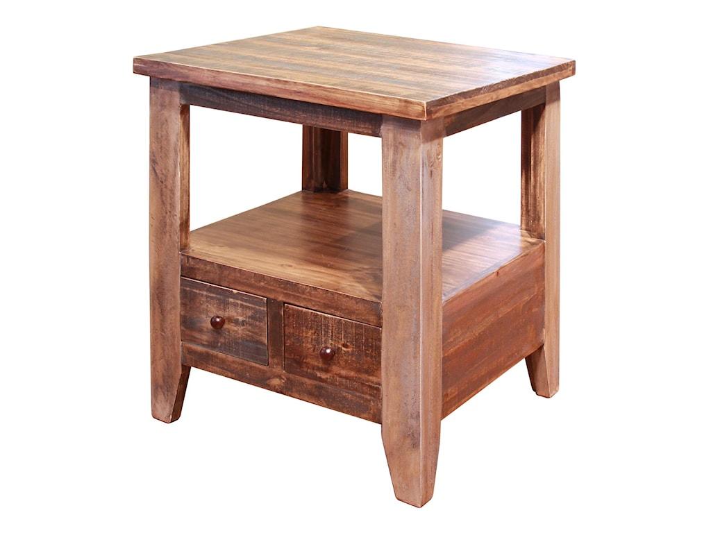 International Furniture Direct AntiqueEnd Table