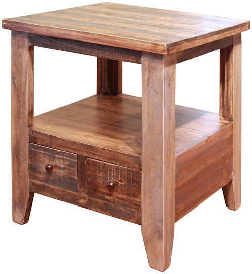 Wilson Antique White Coffee Table: International Furniture Direct Antique End Table With 2