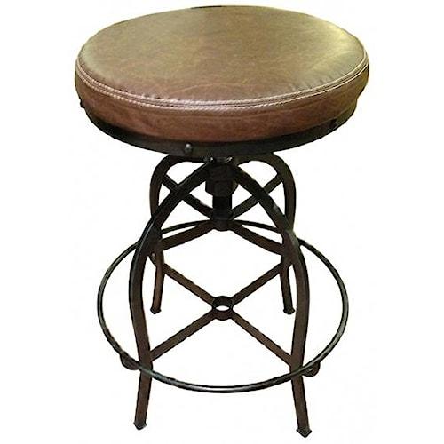 International Furniture Direct Bar Stools Swivel Bar Stool w/ Bonded Leather Seat