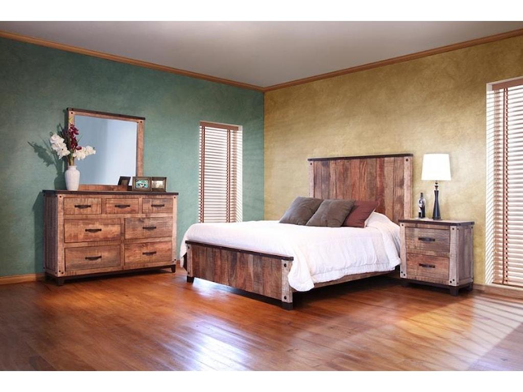 International Furniture Direct Maya7 Drawer Dresser