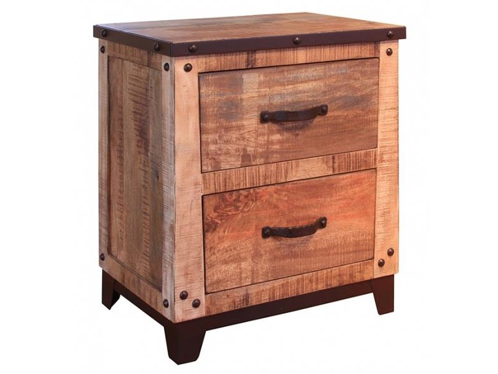International Furniture Direct Maya2 Drawer Nightstand