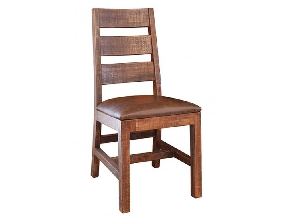 Monte Carlo Casual Rustic Ladder Back Chair By International Furniture Direct