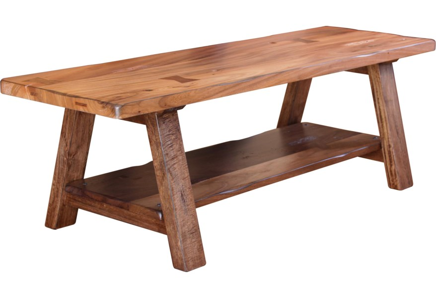 Parota Solid Wood Dining/Bedroom Bench by International Furniture Direct at  Furniture and ApplianceMart