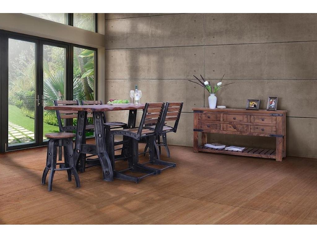 International Furniture Direct Parota24-30 Inch Adjustable High Stool