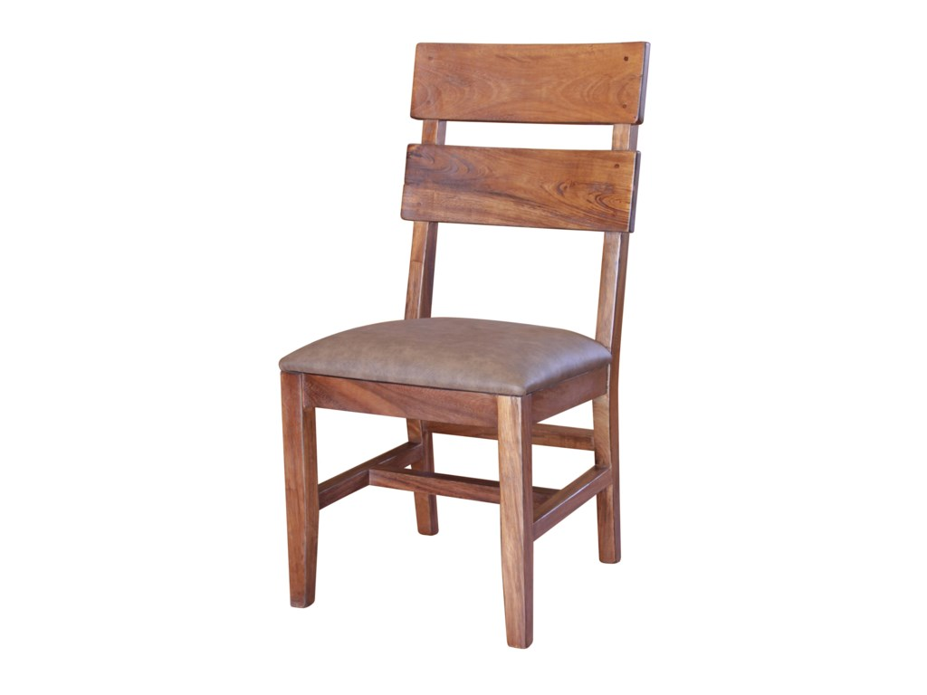 International Furniture Direct ParotaChair with Bonded Leather Seat