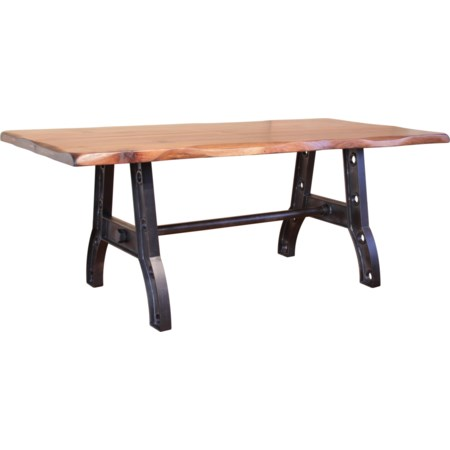 Trestle Table with Iron Base