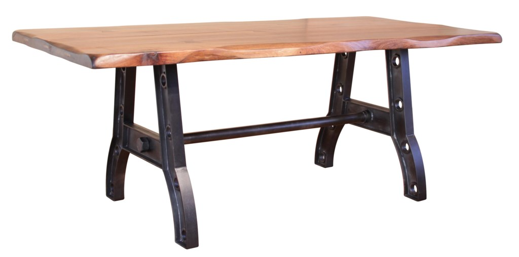 International Furniture Direct Parota Trestle Table with an