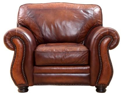 Ordinaire Signature Collection Extra Wide Leather Chair With Nailhead Trim By  Artistic Leathers