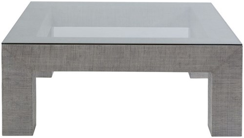 Artistica Precept Contemporary Square Cocktail Table with Glass Top