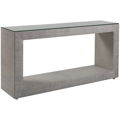 Artistica Precept Contemporary Console Table with Glass Top