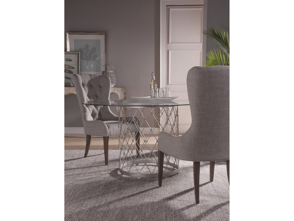 Artistica Artistica MetalRoyere Dining Table With Glass Top