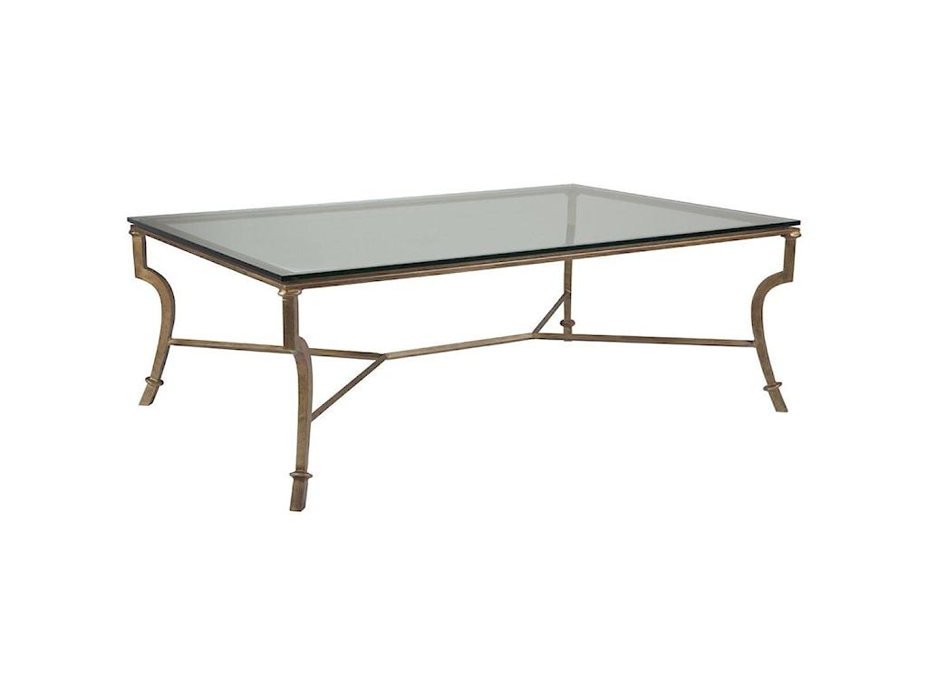Artistica Artistica MetalSyrah Large Rectangular Cocktail Table