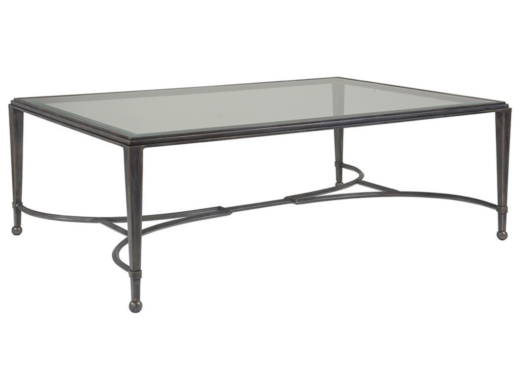 Artistica Artistica MetalSangiovese Large Rectangular Cocktail Table