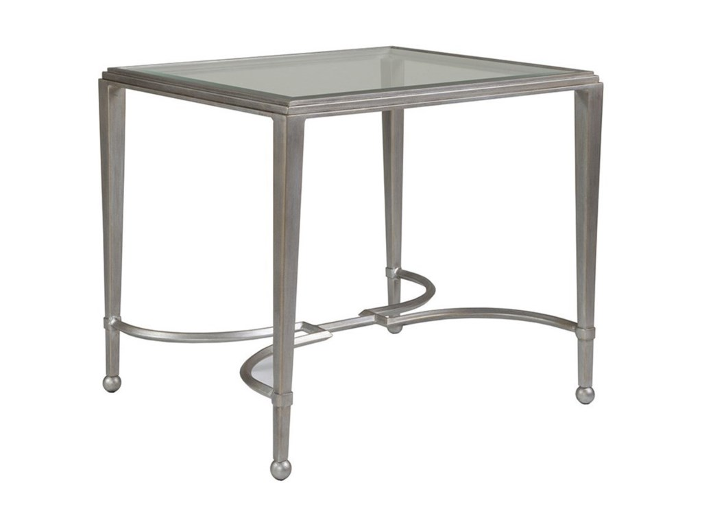 Artistica Artistica MetalSangioves Rectangular End Table