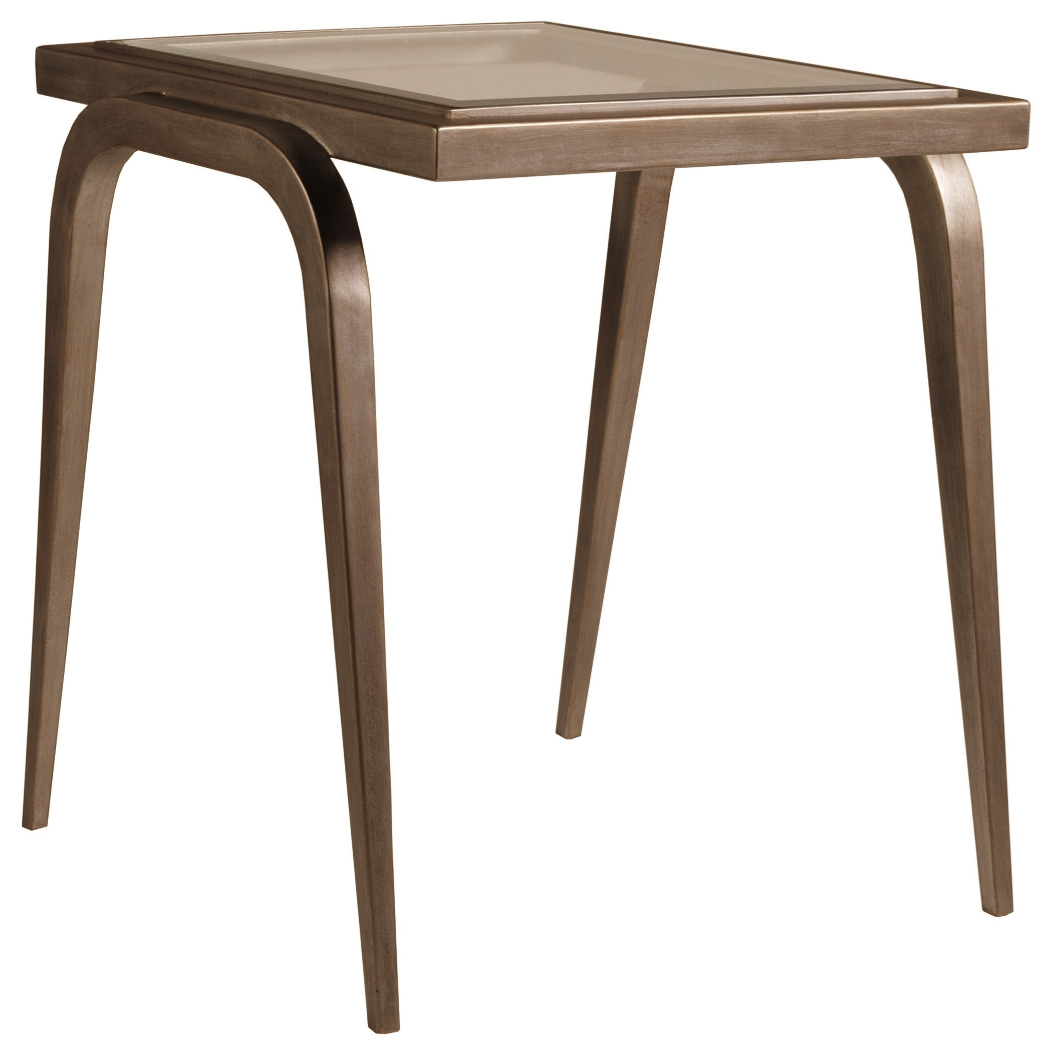 Mitchum Rectangular End Table with Glass Top