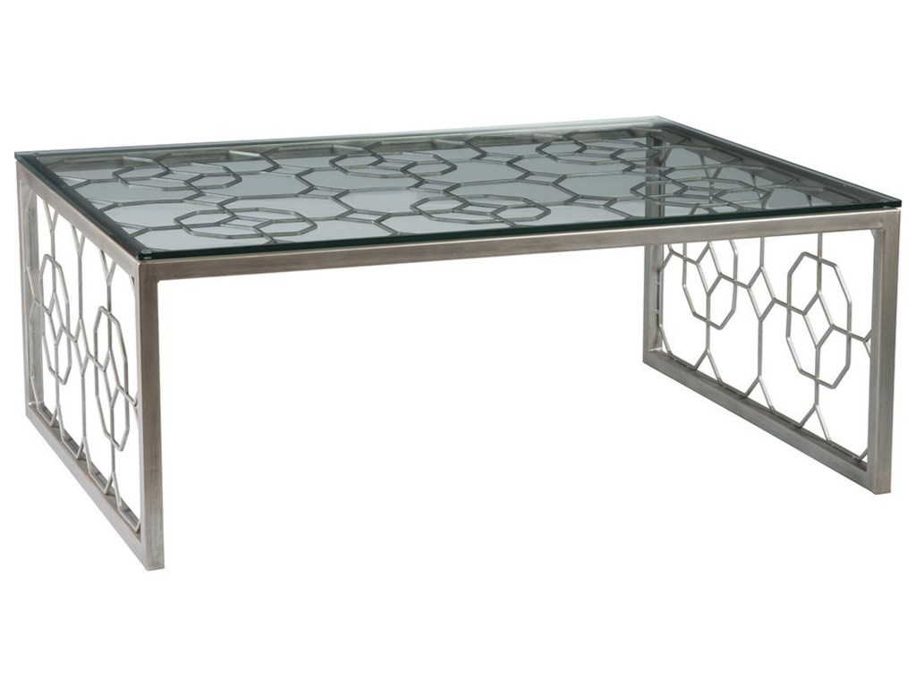 Artistica Artistica MetalHoneycomb Rectangular Cocktail Table